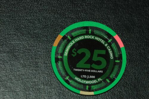 GUITAR HOTEL Hollywood Fl Hard Rock Casino Grand Opening $25 Chip LIMITED EDITIO