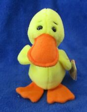 Ty Beanie Baby Quackers The Duck 4th Generation Hang Protector Tag