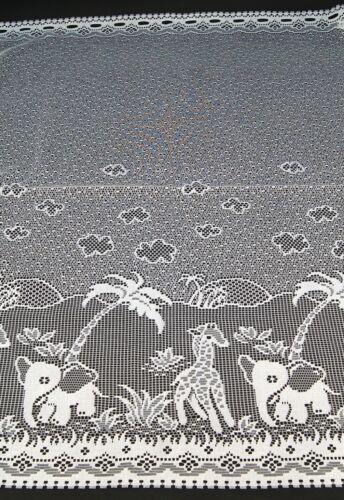 Enfants rideau disques rideau panneaux éléphant Girafe Bistro rideau enfant typ320