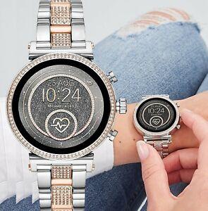 Michael-Kors-MKT5064-Smartwatch-Damenuhr-Uhr-Sofie-Gen-4-zweifarbig-neu