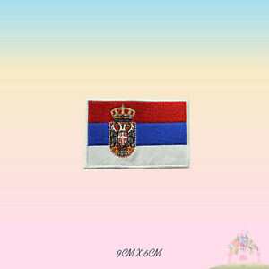Serbia-National-Flag-Embroidered-Iron-On-Patch-Sew-On-Badge-Applique