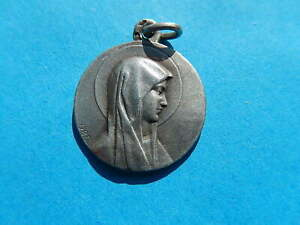 MEDAILLE-ARGENT-MARIE-NOTRE-DAME-LOURDES-SOLID-SILVER-SIGNEE-OBC-THFR