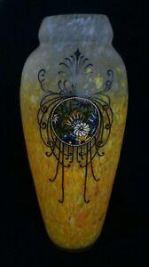 Monumental Legras Art Français Vase En Verre-afficher Le Titre D'origine Saveur Pure Et Douce
