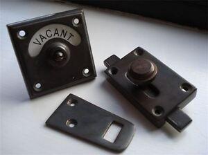 Antique Finish Vacant Engaged Toilet Bathroom Lock Bolt Indicator Door Ebay