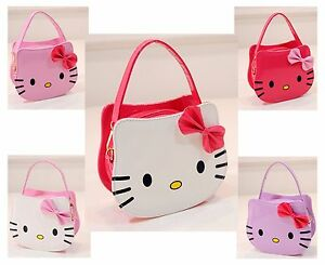f56c1e6e2 Girls Hello Kitty Shoulder Bag Patent White/Pink Handbag Harajuku ...