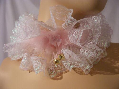 SISSY ADULT BABY KITTEN LACE CHOKER COLLAR LOLITA FANCY DRESS COSPLAY DDLG