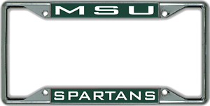 Michigan State University MSU SPARTANS License Plate Frame