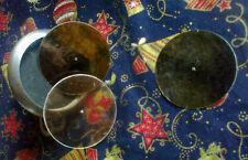 Mica ambré reproducteur de gramophone jusqu'à 56 mm de diamètre SUR MESURE