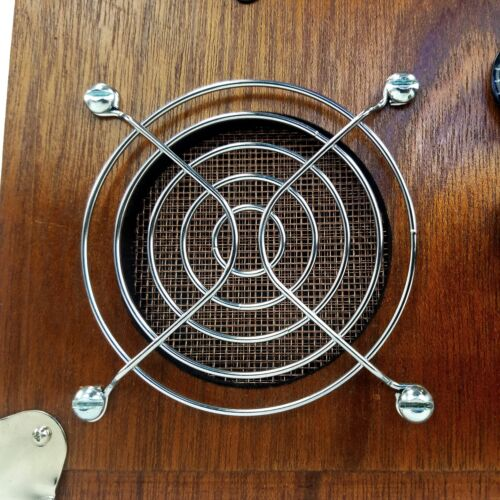 3pc 80mm Chrome Wire Sound Hole//Speaker Covers Cigar Box Guitar Parts