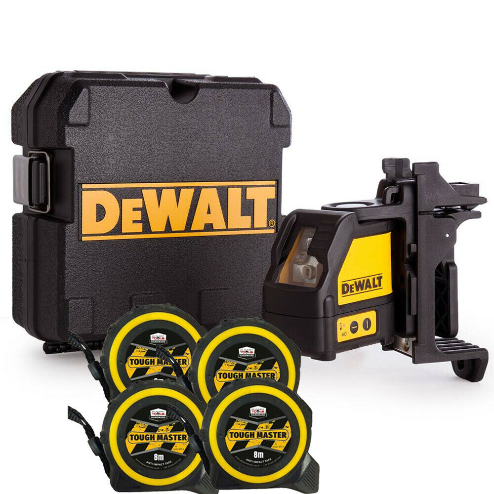 Dewalt DW088K 2 Way Self-Levelling Cross Line Laser With 4 x 8m Measuring Tapes