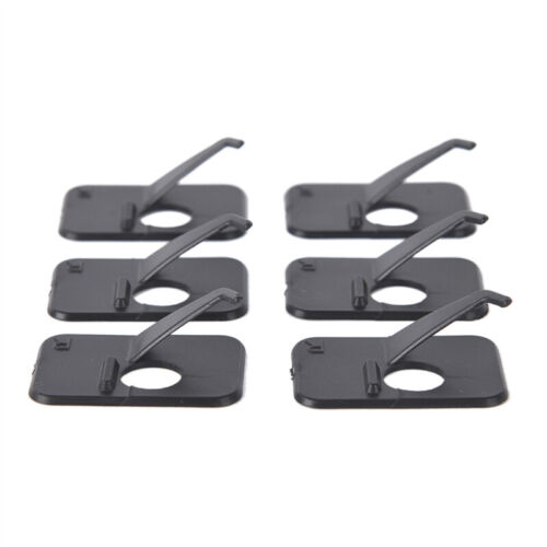 Professional 6Pcs Recurve Bow Arrow Rest Right//Left Hand 3 x 2 x 1cm Black J0