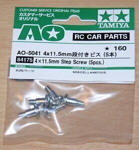 Tamiya-84175-4x11-5mm-Step-Screw-5-Pcs-TA01-TL01-M03-DF02-GF-01-TT02B-NIP