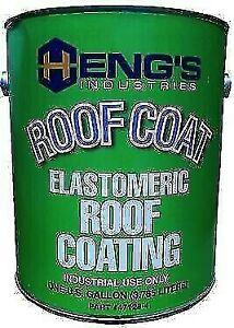 Hengs 47128 4 White Elastomeric Roof Coating 1 Gallon Ebay