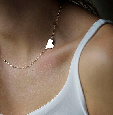 New Fashion Hot Jewelry Cute Heart Choker Chunky Statement Bib Pendant Necklace