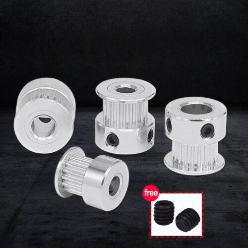 GT2-16T//20T Timing Pulley 3.17-8mm Bore 6mm Belt Width For Reprap 3D Printer