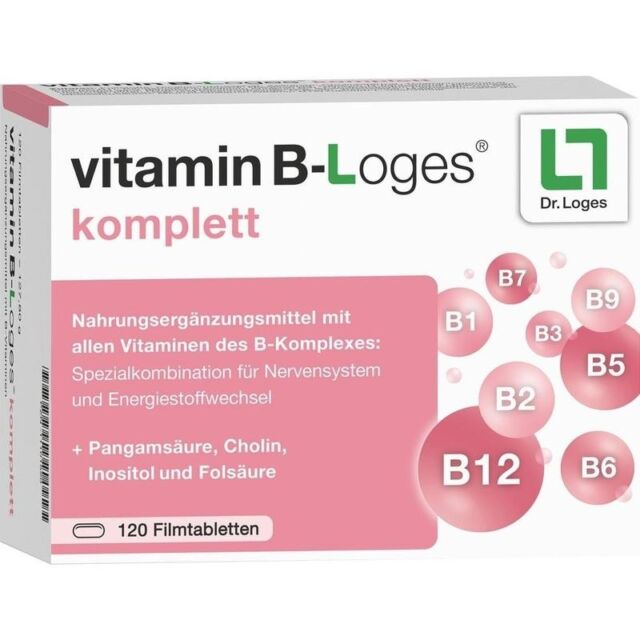 VITAMIN B-loges komplett Filmtabletten   120 st   PZN11101520