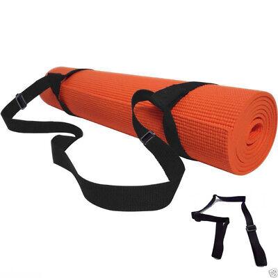Ajustable Sling Carrier Shoulder Carry Strap Belt For 8//10//15mm Yoga Mat Black