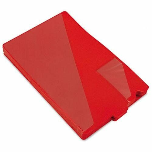 Smead End Tab Poly Out Guides - 8.5  X 14  - 50   Box - Red Divider (61970)