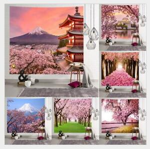 Cherry Blossom paisaje Colgando Tapiz Colgante De Pared Lanzar Hogar Decoración tapices