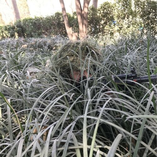 Jungle Camouflage Ghillie Suit Hat Net Cloak Poncho Cape Hunting Outdoors Sports