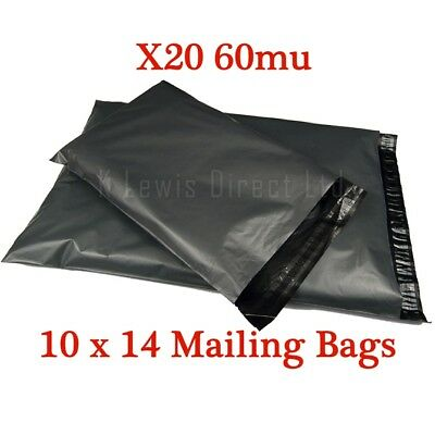 50 x STRONG Grey Mailng Postal Bags 10 x 14-250x350mm