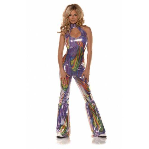 Underwraps Boogie Disco 70s Metallic Jumpsuit Adult Halloween Costume 28637