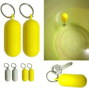 2Pcs Floating Cork Keyring Wooden Ball Buoyant Water Sports Key Ring Floats