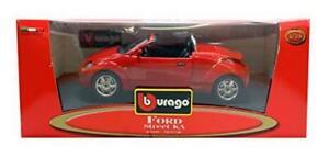 BURAGO-1-24-modello-pressofuso-STAR-COLLEZIONE-FORD-STREET-KA-in-rosso-Hot-MOLTO-RARO