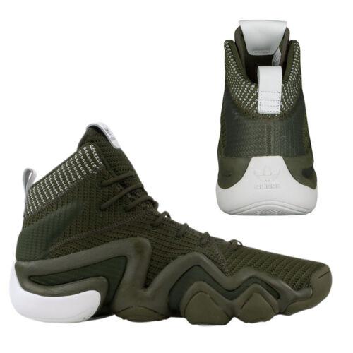 Adidas Crazy 8 ADV Primeknit Mens Lace Up Trainers Shoes Khaki BY3604 B77C