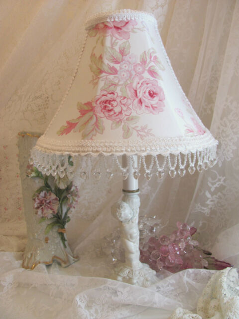 "SPECIAL ORDER for susnshinegirl728  aPAIR 8.5"" LAMP SHADE shabby PINK Roses"