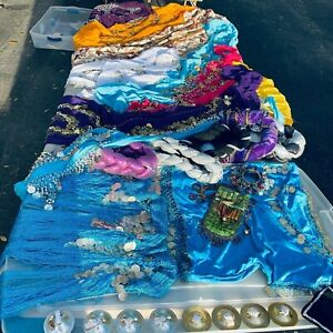 Belly-Dance-Costume-50-Lot-Of-Mixed-Clothes-amp-Accessories-For-Hobby-Or-Income