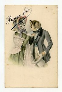 Illustrator-without-Signature-Cats-Formal-Amour-and-Romanticism