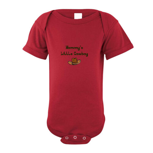 Mommy/'s Little Cowboy Infant Toddler Baby Cotton Bodysuit One Piece