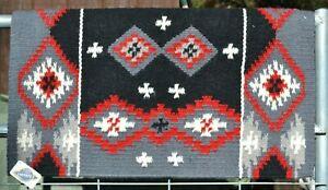 Mayatex-Square-Cut-Saddle-Blanket-Pad-38-034-x-34-034-Grey-Black-Red-Cream