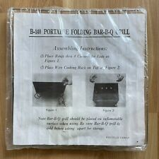 Vintage Portable Folding Bbq Grill Super Light Weight And Easy To Store