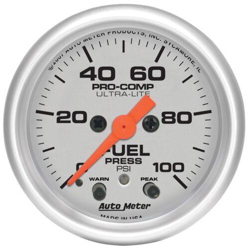 AUTO METER 4371 2-1//16 ULTRA FUEL PRESSURE 0-100 PSI