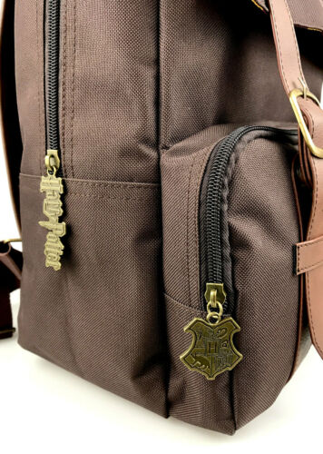 OFFICIAL HARRY POTTER HOGWARTS BROWN FLAPOVER BACKPACK RUCKSACK SCHOOL BAG NEW