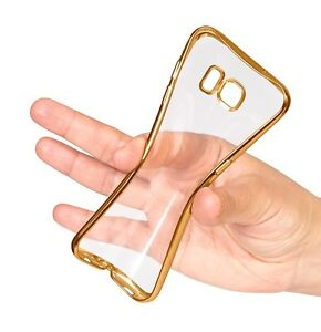 Electroplated-Trim-Clear-Thin-Gel-TPU-Back-Case-Cover-for-Samsung-Galaxy-Phones