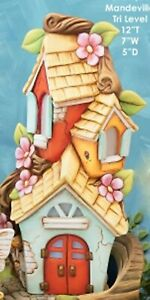 Mandeville-Tri-Level-Fairy-House-12-034-Ceramic-Bisque-Ready-to-Paint