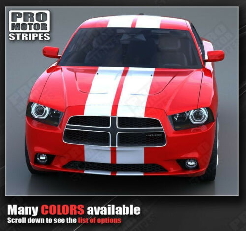 Dodge Charger Rally Racing Double Top Stripes Decals 2011 2012 2013 2014