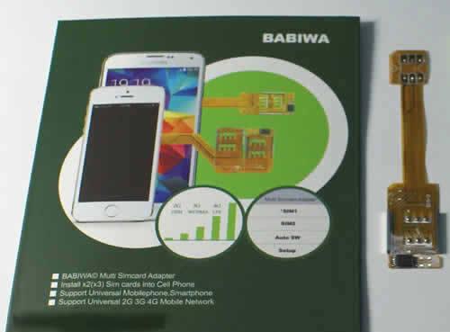 babiwa BW-3GL-Nano Nanosimcard Dual Simcard Adapter to install 2 sim in phone