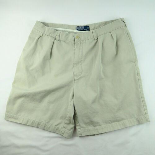VTG Polo Ralph Lauren Tyler Shorts 38 Chino Pleat… - image 1
