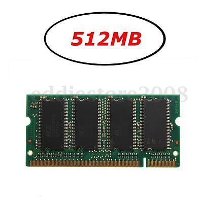 512MB (1x512MB) DDR-333 PC2700 (SODIMM) Memory RAM KIT 200-Pin Laptop Notebook