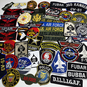 4823241feb3 Image is loading MILITARY-PATCH-SHOP-Iron-on-Patch-Collection-Air-