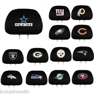 NFL-Teams-2-Pack-Auto-Car-Truck-Headrest-Covers