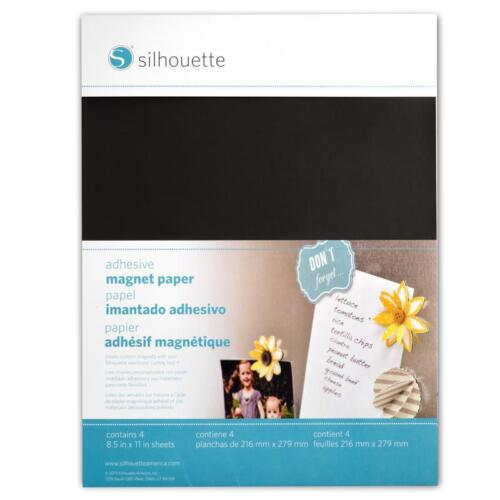 Adhesive Magnet Paper Silhouette Cut With Your Die Cutting Machine Cameo etc