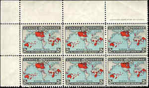 Mint-NH-Canada-F-VF-Scott-86-1898-BLOCK-of-6-2c-Imperial-Penny-Stamps