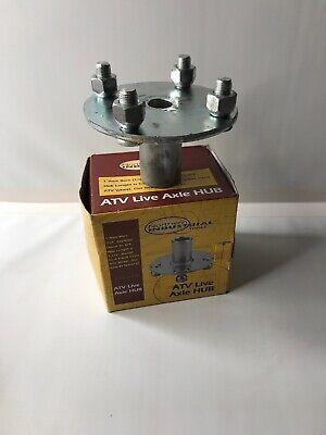 ADAPTER HUBS 1 LIVE AXLE 4 LUG ATV GO KART TRAILER STEP-DOWN TO 3//4 2 USA SELLER.