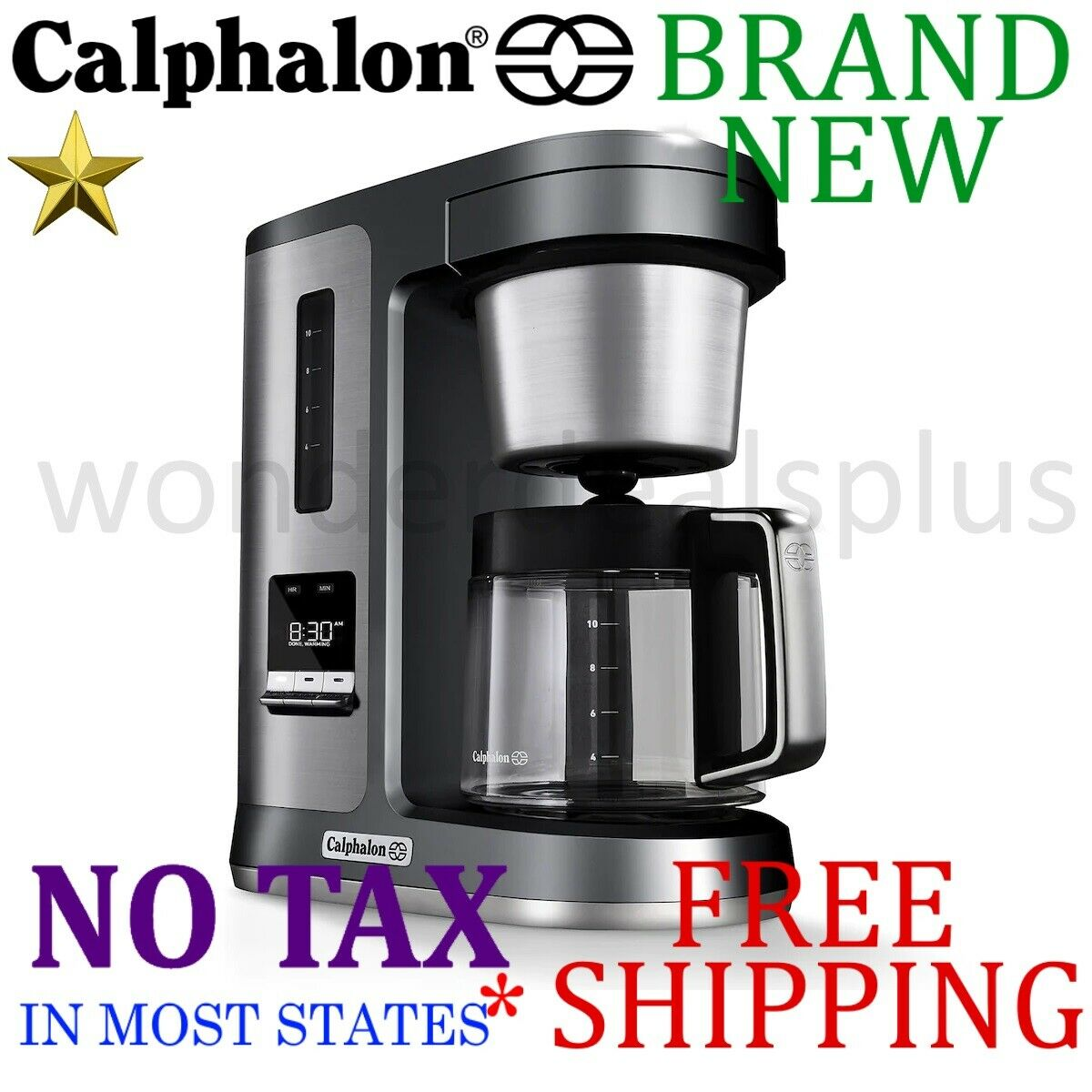New CALPHALON Electrics Perfect-Brew 10-Cup COFFEE MAKER Programmable, Hot Plate