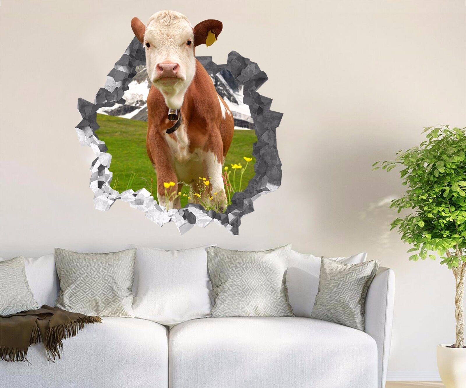 3D Vieh Blaumen 864 Mauer Murals Mauer Aufklebe Decal Durchbruch AJ WALLPAPER DE